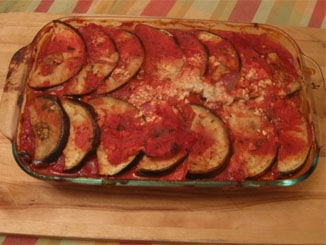 ... REAL recommends our Baked Eggplant with Vegan Cheese and Tomato Sauce