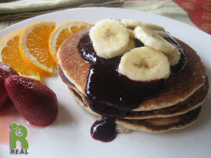House: Vegan Buttermilk Pancakes with Blueberry Syrup, Gluten-free ...