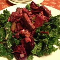 kale salad wtih roasted veggies