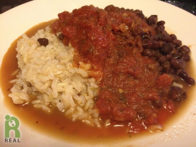 beans-rice-sauce