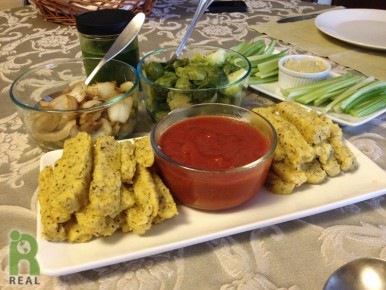 polenta-fries-brussells-sprouts