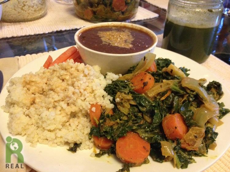 millet-greens-coconut-sauce-bean-stew