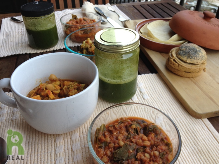 sweet-potato-curry-lentil-collards, green-juice