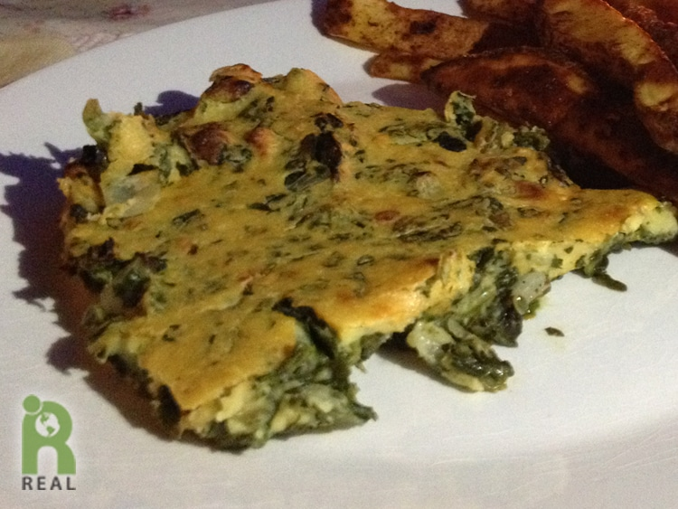 Easy Spinach Frittata | RESPONSIBLE EATING AND LIVING