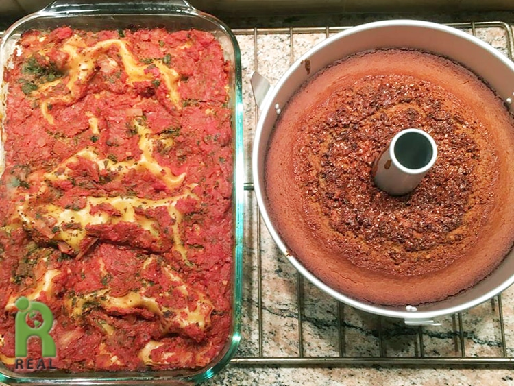 lasagna-and-honey-cake